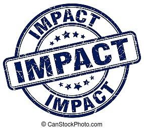 impact blue grunge stamp