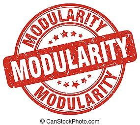 modularity red grunge stamp