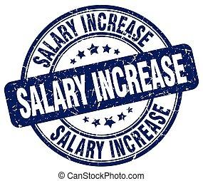 salary increase blue grunge stamp