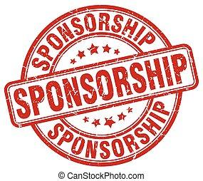 sponsorship red grunge stamp