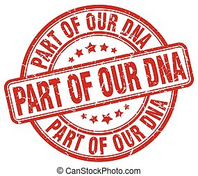 part of our dna red grunge stamp