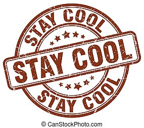 stay cool brown grunge stamp