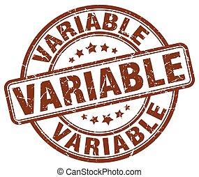 variable brown grunge stamp