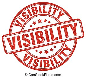 visibility red grunge stamp