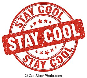 stay cool red grunge stamp