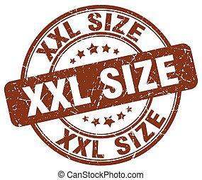 xxl size brown grunge stamp