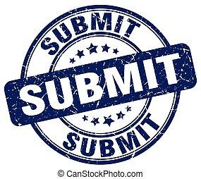 submit blue grunge stamp