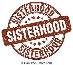sisterhood brown grunge stamp