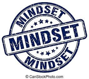 mindset blue grunge stamp