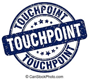touchpoint blue grunge stamp