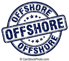 offshore blue grunge stamp