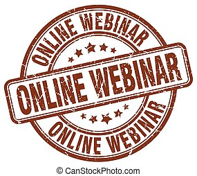 online webinar brown grunge stamp