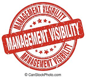 management visibility red grunge stamp