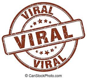 viral brown grunge stamp