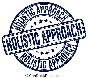 holistic approach blue grunge stamp