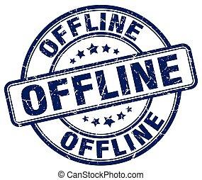 offline blue grunge stamp