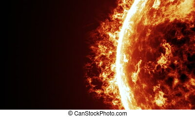 Sun surface and solar flares animation - Extremely detailed...