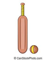 Australia cricket icon, cartoon style - Australia cricket...