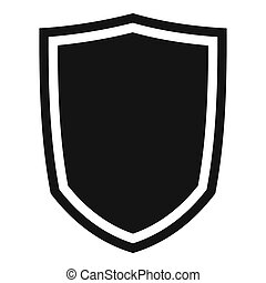 Military shield icon, simple style - Military shield icon....