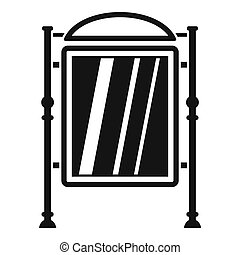Advertising sign icon, simple style - Advertising sign icon....