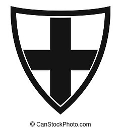 Shield for protection icon, simple style - Shield for...