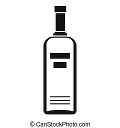 Bottle of vodka icon, simple style - Bottle of vodka icon....