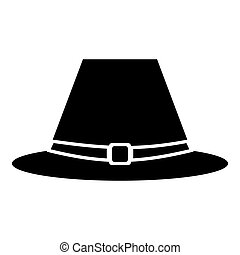 Pilgrim hat icon, simple style - Pilgrim hat icon. Simple...