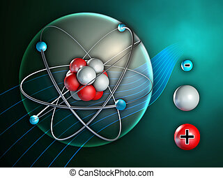 Atom structure - Atom and its constituents. Digital...