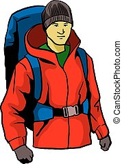 Mountaineer - A vector illustration of mountaineer