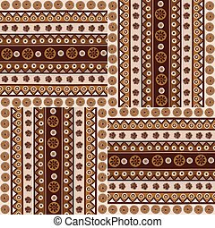 Ethnic ornaments seamless pattern in african style