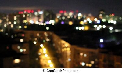 view from the roof of the house on the night sleeping city