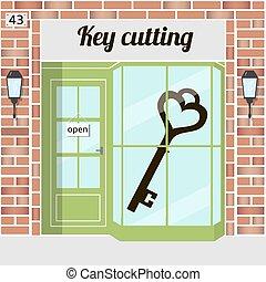 key cutting - Key cutting service. Locksmith, keycut. Red...