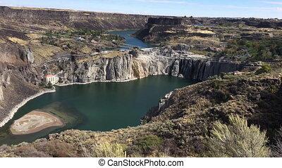 Shoshone Falls Idaho low water flow - Shoshone Falls Idaho...