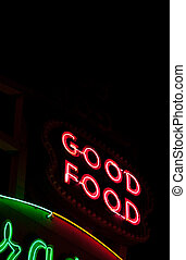 Good food neon sign