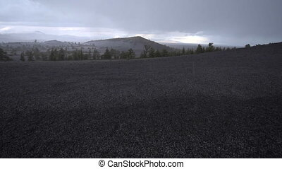 Inferno Cone Overlook Craters of The Moon at Sunset -...