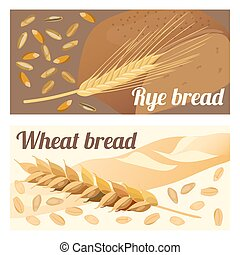 rye and wheat bread