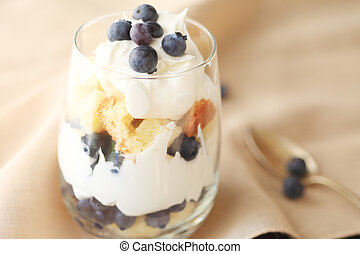 Miniature blueberry trifle - Small, individual trifle...