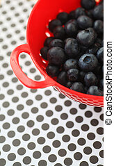 Blueberries on polka dots