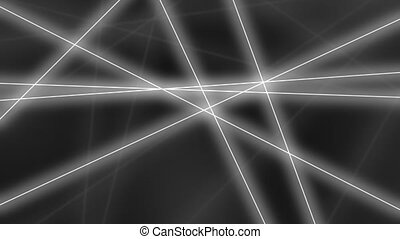Abstract glowing grey lines crossings - Hi-tech motion...