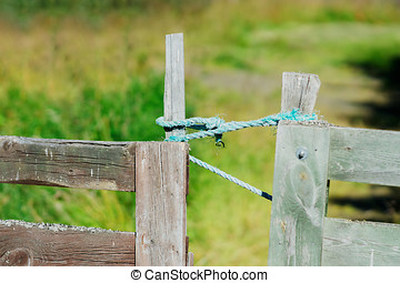 Closed Norway farm fence background hd