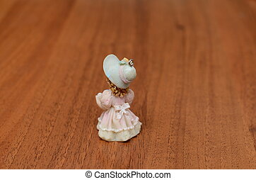 beautiful vintage doll - Porcelain doll in a dress