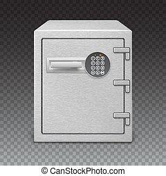 Safe with digital lock  sophisticated details.