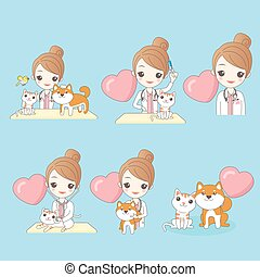 veterinary with dog and cat