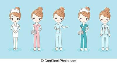 cartoon beautiful nurse