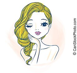 cartoon woman make up