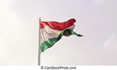 Flag Tajikistan. Dushanbe, Tajikistan