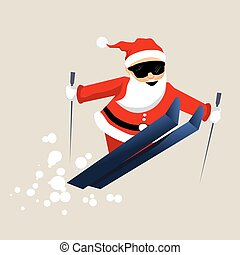 Santa Clause ready for christmas. Vector Illustration...