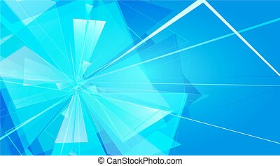 card - collapsing abstract glass background, vector...