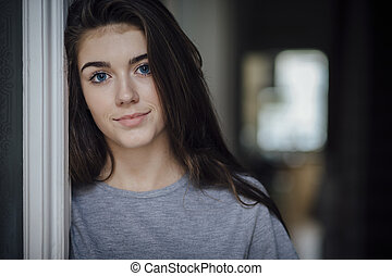 Beautiful Teenage Girl - Portrait of a beautiful teenage...
