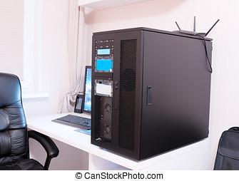 High performance workstation computer background hd